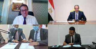 وزيرا التعليم العالي والاتصالات يشهدان توقيع بروتوكول تعاون لتجهيز مركز حاسب آلي لوكالة الفضاء المصرية