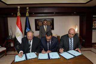 أسامة ربيع يشهد توقيع اتفاقية تأسيس شركة مساهمة مصرية للصناعات الغذائية